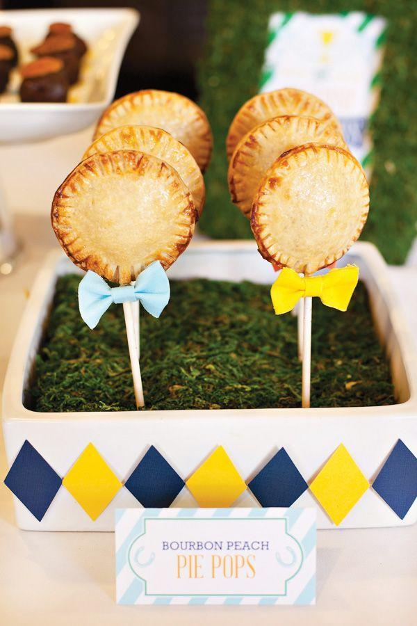 """<p>These bite-sized, peachy treats are even more adorable with mini bow ties.</p><p><strong>Get the recipe at <a href=""""http://blog.hwtm.com/2013/05/bourbon-peach-pie-pops-recipe/"""" rel=""""nofollow noopener"""" target=""""_blank"""" data-ylk=""""slk:Hostess with the Mostess"""" class=""""link rapid-noclick-resp"""">Hostess with the Mostess</a>.</strong></p>"""
