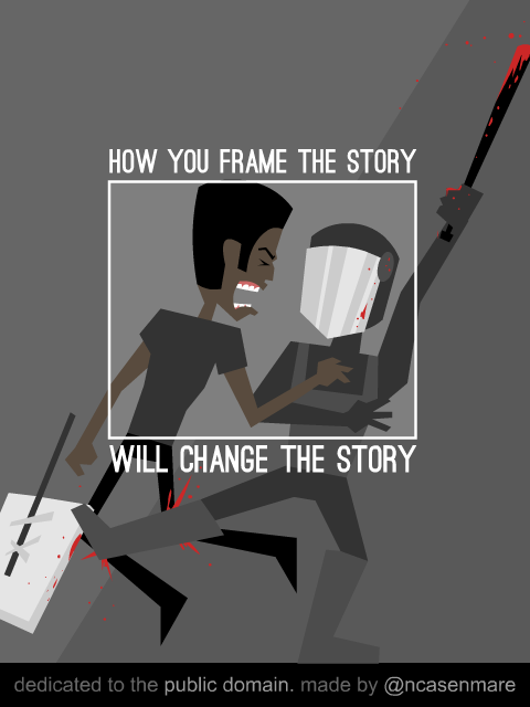 Illustration reading 'How you frame the story will change the story'