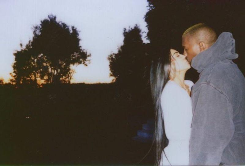 """<p>The reality star shared a well-lit snap of her smooching hubby Kanye West for V-Day. Thanks? (Photo: <a rel=""""nofollow noopener"""" href=""""https://www.instagram.com/p/BQgFycXFUzI/"""" target=""""_blank"""" data-ylk=""""slk:Instagram"""" class=""""link rapid-noclick-resp"""">Instagram</a>) </p>"""