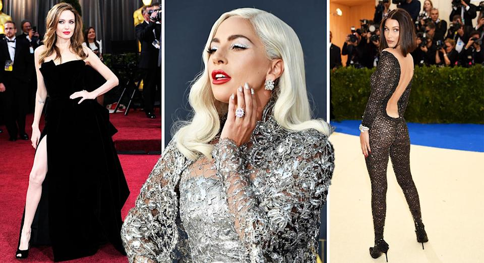 We asked a body language expert to decode the meaning behind the most popular celebrity red carpet poses [Photo: Getty]
