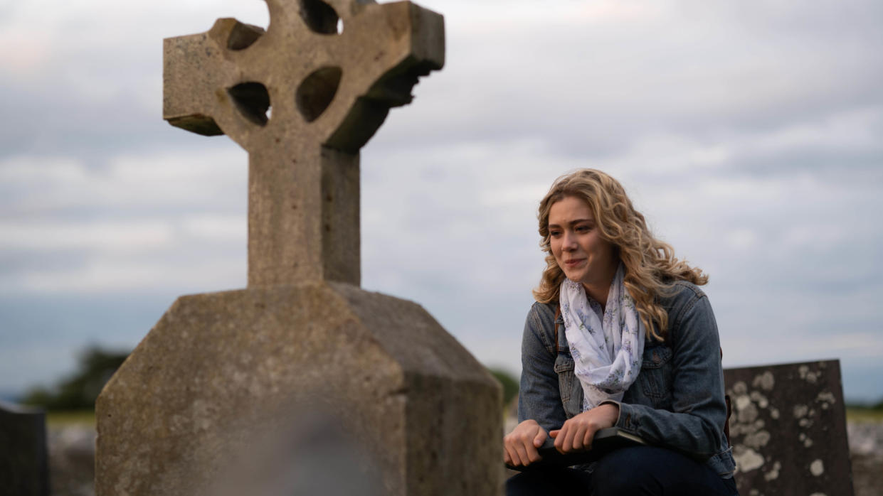 Rose Reid plays the musician at the heart of an unlikely romance in Ireland-set movie 'Finding You'. (Anthony Courtney/Sky Cinema)
