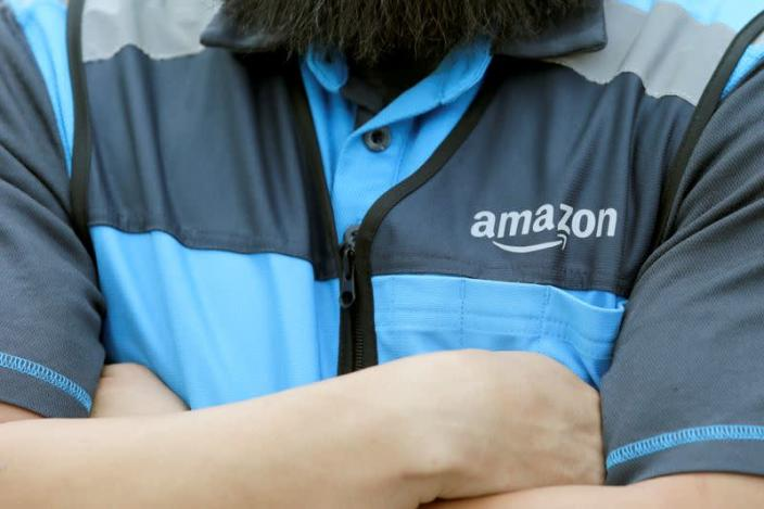 FILE PHOTO: Danny Gonzalez makes deliveries for Amazon during the outbreak of the coronavirus disease