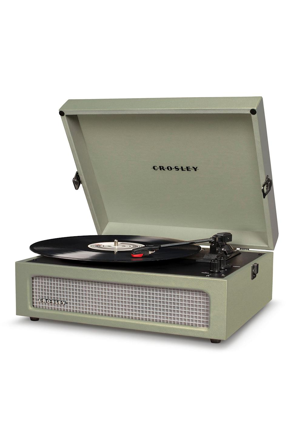 "<p><strong>Crosley Radio </strong></p><p>nordstrom.com</p><p><strong>$90.00</strong></p><p><a href=""https://go.redirectingat.com?id=74968X1596630&url=https%3A%2F%2Fshop.nordstrom.com%2Fs%2Fcrosley-radio-voyager-turntable%2F5279015&sref=https%3A%2F%2Fwww.harpersbazaar.com%2Ffashion%2Ftrends%2Fg4473%2Fmens-holiday-gift-guide%2F"" rel=""nofollow noopener"" target=""_blank"" data-ylk=""slk:Shop Now"" class=""link rapid-noclick-resp"">Shop Now</a></p><p>For the old soul kind of man, this record player is ideal for his vinyl collection—and also makes for a cool home decor piece. </p>"