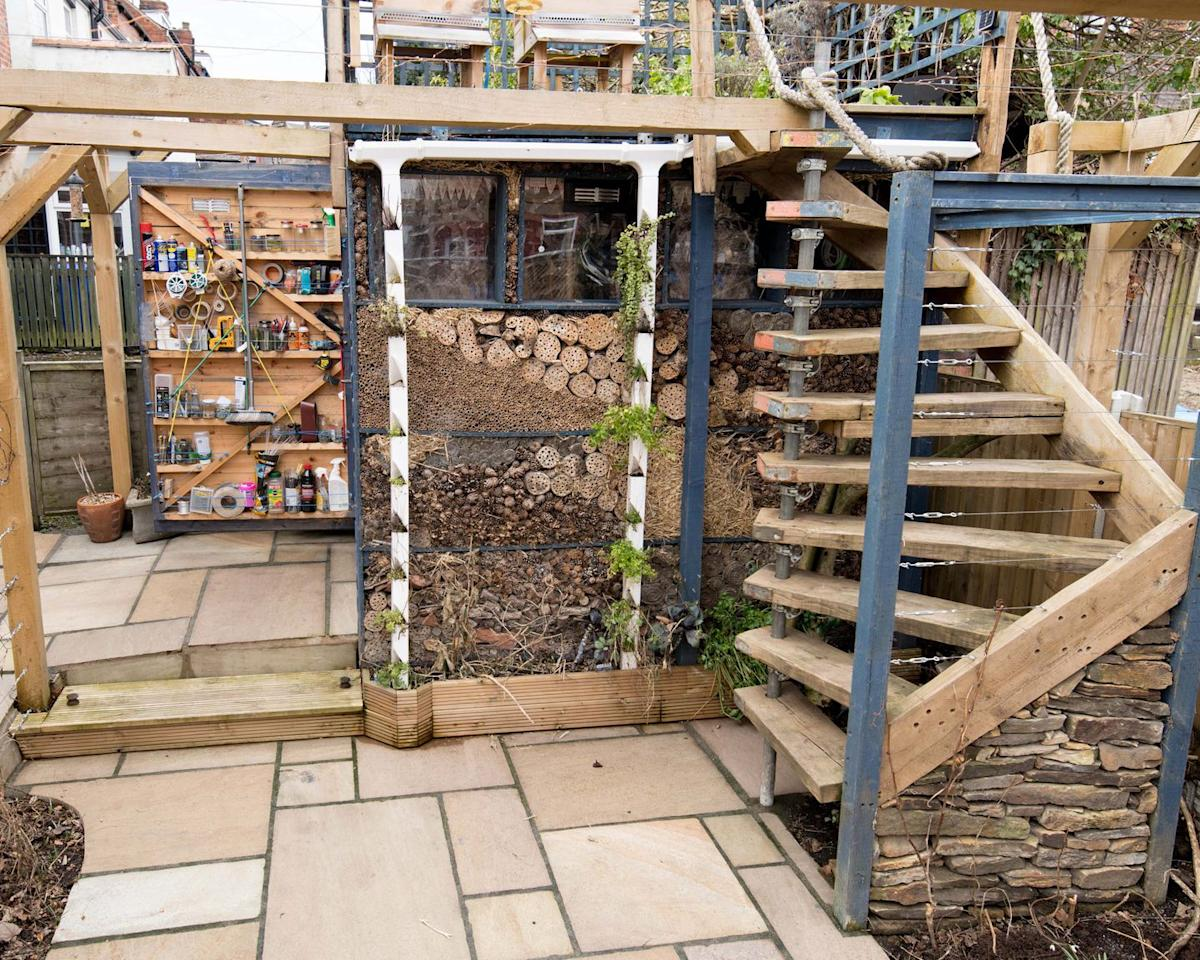 <p><strong>ECO FINALIST</strong> – owned by George Smallwood.</p><p>A celebration of the wonders of nature, the Bee Eco Shed is the ideal place to admire the incredible life that can be found in the outdoors. George Smallwood started out building a base for a ready-made shed, but felt inspired and decided to create the whole structure himself. Today, it is used as a space of discovery as George interacts with the different species occupying his shed. In this entirely self-watering and self-sufficient space, the vegetables, herb garden, bugs and bees can truly thrive.</p>