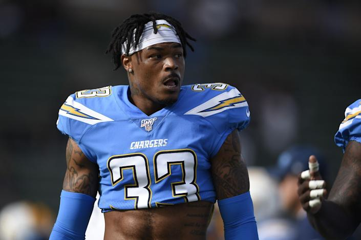 "Having versatile safety Derwin James in the lineup to start the season will be a big boost to the Chargers' defense. <span class=""copyright"">(Kevin Kuo / Associated Press)</span>"