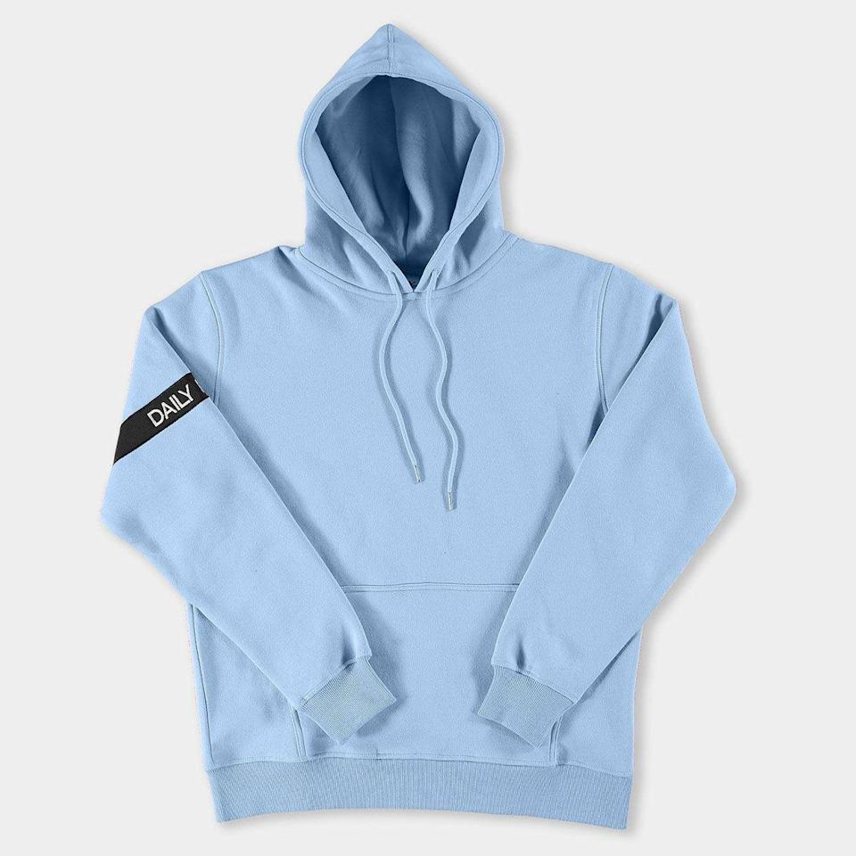 """<p><strong>Daily Paper</strong></p><p>dailypaperclothing.com</p><p><strong>110.00</strong></p><p><a href=""""https://www.dailypaperclothing.com/products/light-blue-captain-hoody?variant=560213786645"""" rel=""""nofollow noopener"""" target=""""_blank"""" data-ylk=""""slk:Shop Now"""" class=""""link rapid-noclick-resp"""">Shop Now</a></p><p>And speaking of damn good sweats...</p>"""
