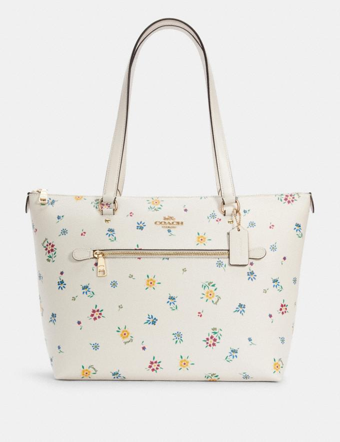 Gallery Tote With Wild Meadow Print- Coach Outlet