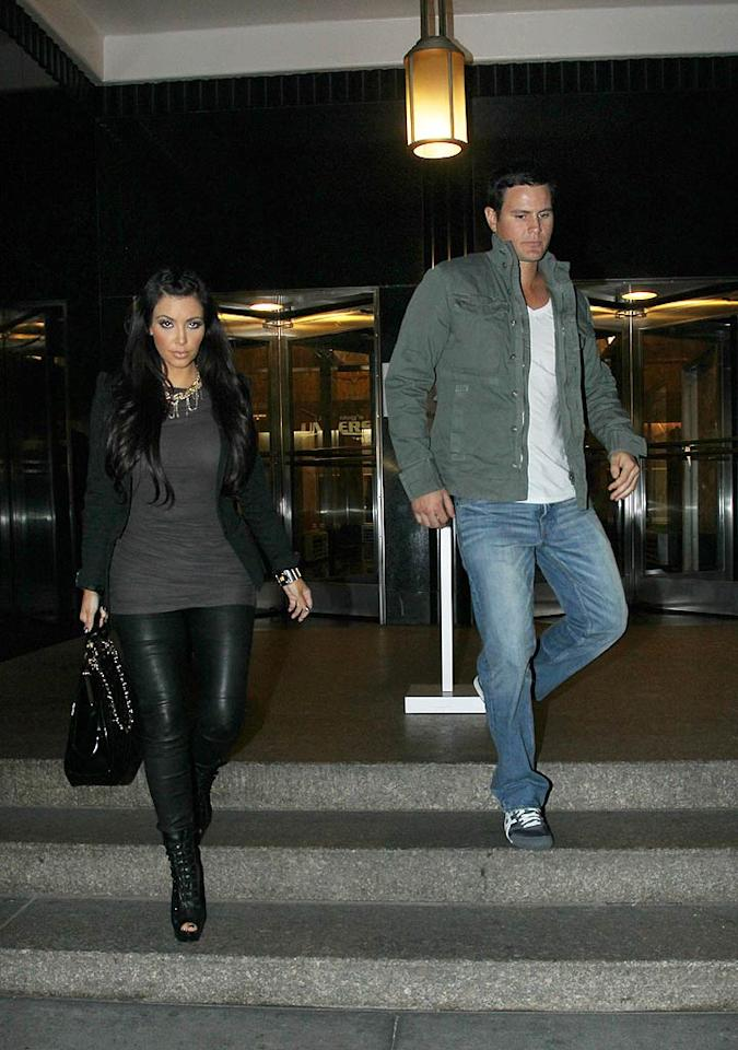 "After sharing a smooch on an episode of ""Keeping Up WIth the Kardashians,"" Kim spent a New York night on the town with her one-time bodyguard, an Australian named Shengo Deane, which included a romantic trip to the top of the Empire State Building. The fling was over in a New York minute. (10/25/2010)"