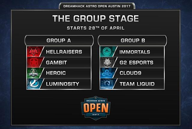 The groups for DreamHack Austin have been set. (DreamHack)