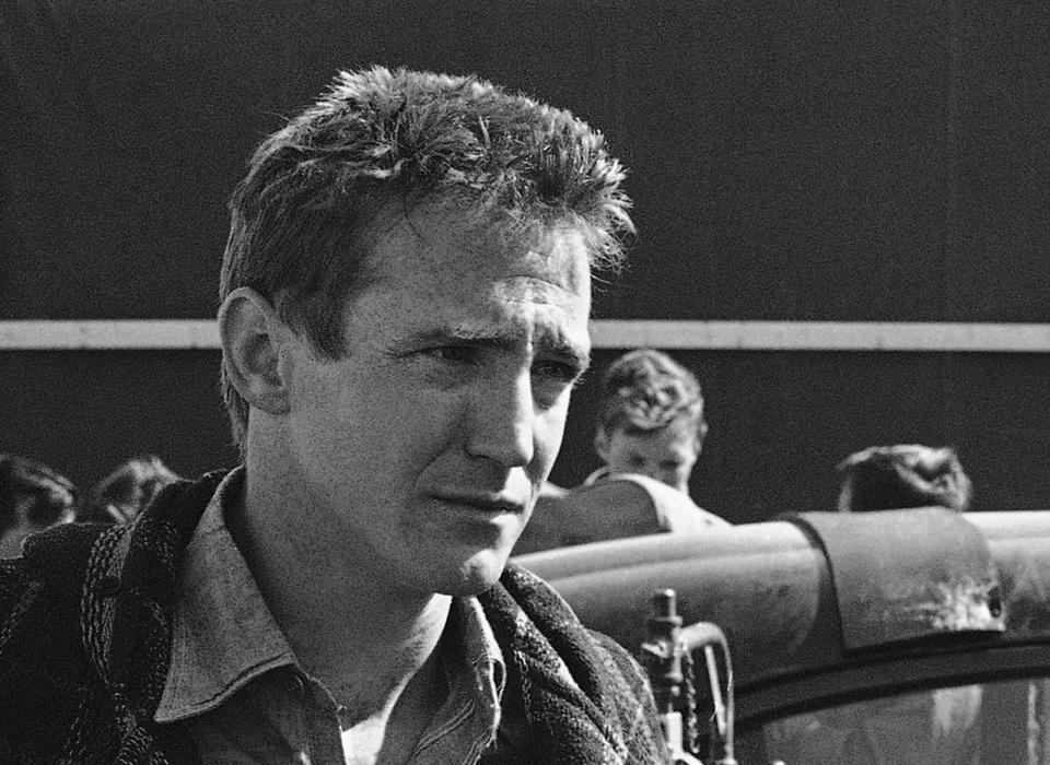 "FILE - This March 10, 1967, file photo shows Actor Scott Wilson during filming of the adaptation of the book, 'In Cold Blood'. Wilson, who played the murderer Robert Hickock in 1967's ""In Cold Blood"" and was a series regular on ""The Walking Dead,"" has died. AMC, the show's network, announced Wilson's death Saturday, Oct. 6, 2018. (AP Photo/William P. Straeter, File)"