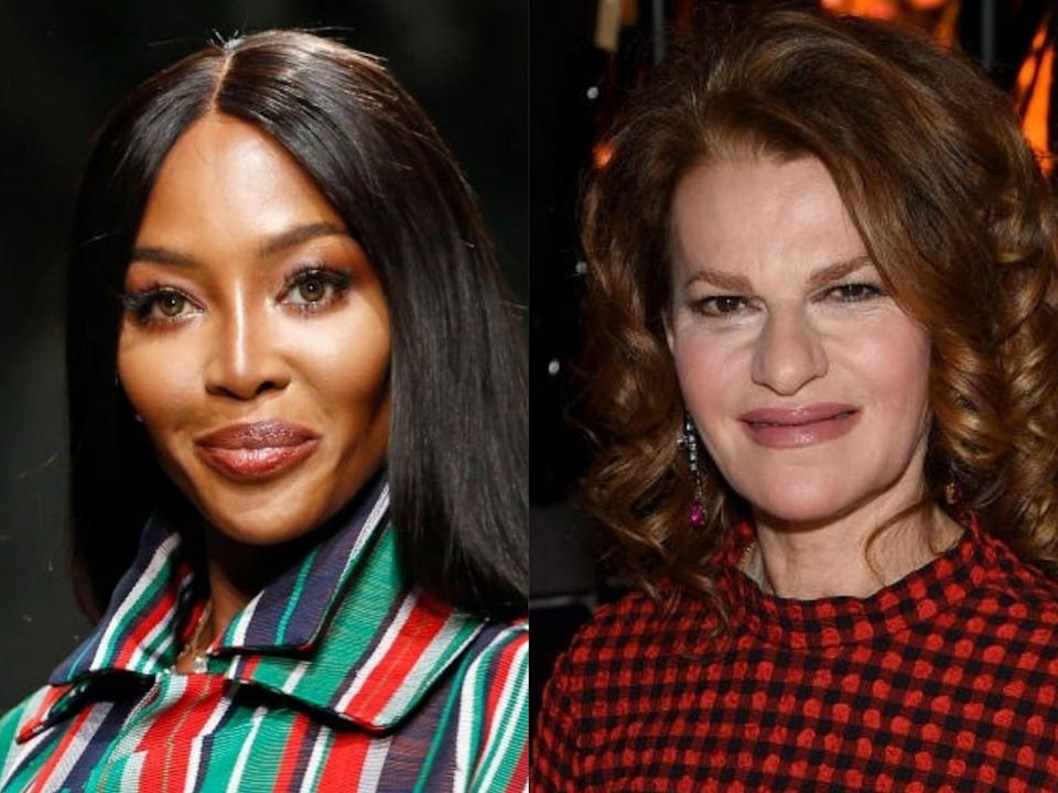Naomi Campbell and Sandra Bernhard (Thierry Chesnot/Jamie McCarthy/Getty Images)