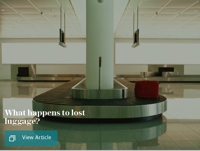 What on Earth happens to lost luggage?