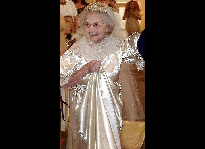 Agnes Anderson, 98, walked the aisle in her 1938 wedding dress for a second time. The West Michigan woman put on the vintage gown -- which she wore during her wedding 73 years ago -- for a fashion show featuring classic bridal gowns at a church in Muskegon.