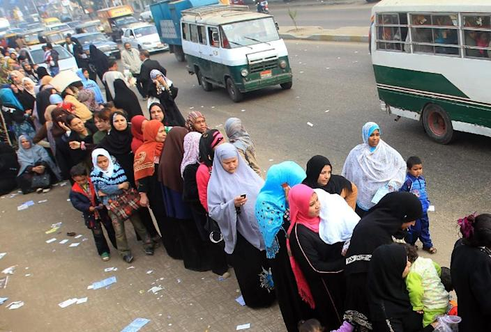 The contrast with the last parliamentary elections, pictured here in southwest Cairo, on December 14, 2011, is striking (AFP Photo/Khaled Desouki)