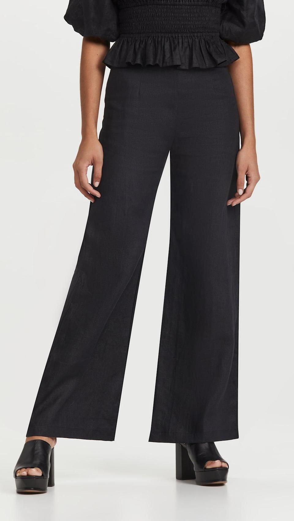 <p>Everyone needs a pair of great black pants in their closet. These <span>Faithfull The Brand Ottavio Pants</span> ($229) have a wide leg that's not too exaggerated for everyday wear, and you'll love them.</p>