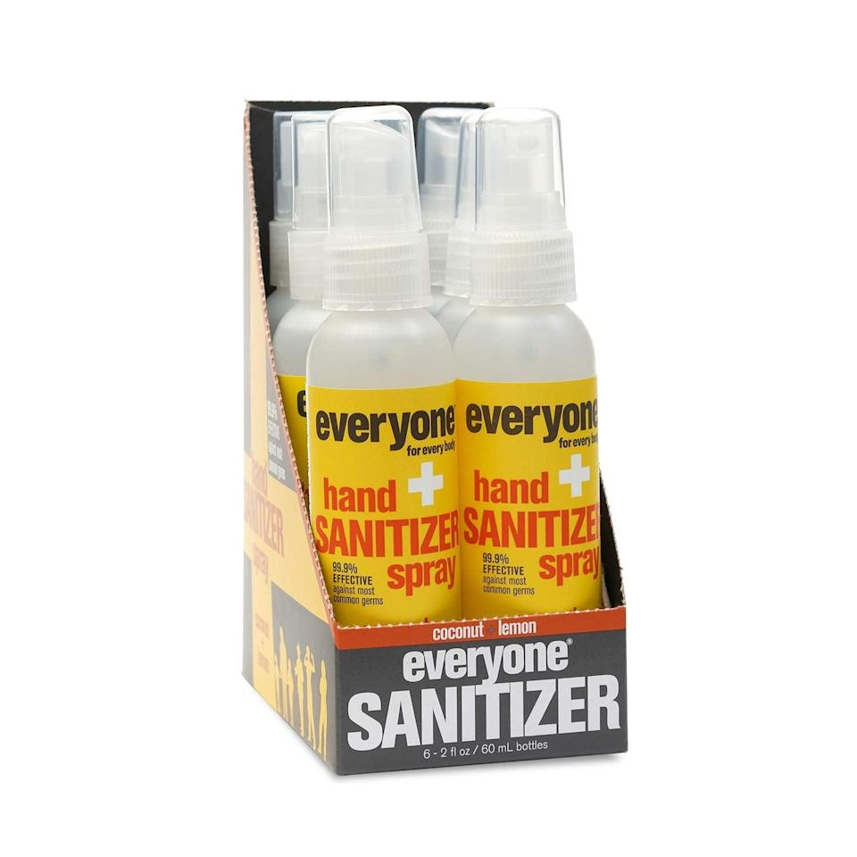 <p>The hot product of 2021 will continue to be hand sanitizer, and this <span>Everyone Hand Sanitizer Spray: Coconut and Lemon</span> ($17) is the best smelling one we've ever tried. Seriously, you won't be able to go back to using anything else.</p>