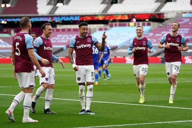 Tomas Soucek, far right, says West Ham need to be more confident when leading