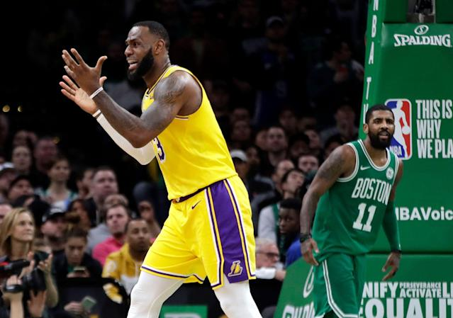 LeBron James and Kyrie Irving have both faced questions over their team's performances this season. (AP Photo/Elise Amendola)