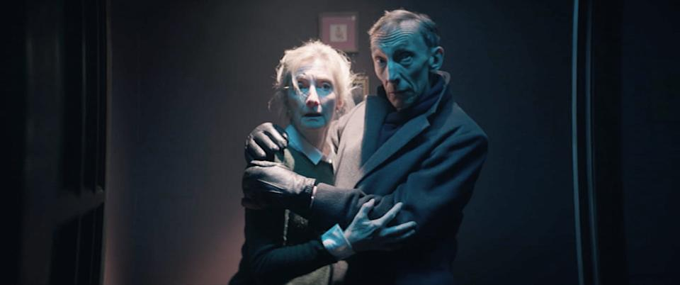 """Sheila McCarthy and Julian Richings star as an elderly couple who attempt to use a satanic ritual to put the soul of their dead grandson in an unborn baby in """"Anything for Jackson."""""""