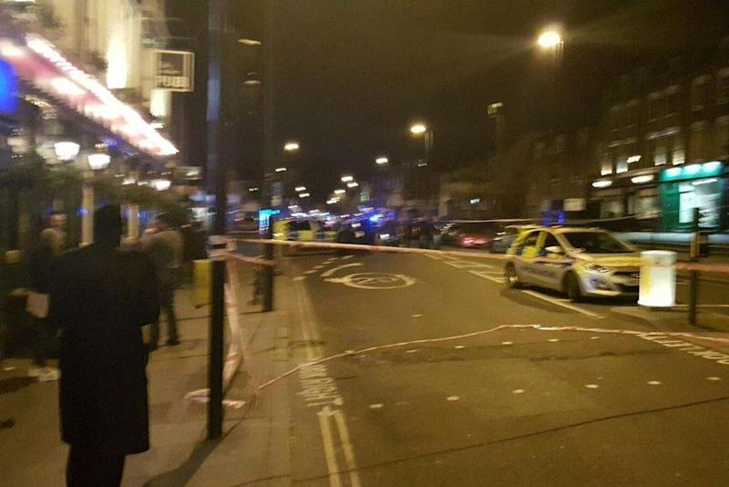 Police have said four men were held on suspicion of GBH with intent and possession of points and blades following the incident (Shulem Stern/Twitter)