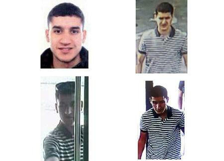 This combination photo shows the suspected driver of the van that crashed into pedestrians in Las Ramblas in Barcelona, Spain, on August 17, in this handout released by Spanish Ministry of Interior August 21, 2017. Spanish Interior Ministry/Handout via REUTERS