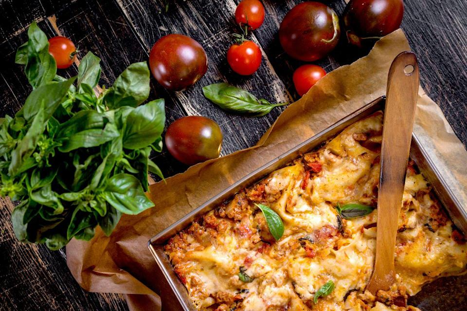 """<p>A gigantic tray of truly Italian lasagna is a must in many Ohio households throughout the holidays. It doesn't get much better than that. </p><p>Get the <a href=""""https://www.delish.com/cooking/recipe-ideas/recipes/a51337/classic-lasagna-recipe/"""" rel=""""nofollow noopener"""" target=""""_blank"""" data-ylk=""""slk:recipe"""" class=""""link rapid-noclick-resp"""">recipe</a>.</p>"""