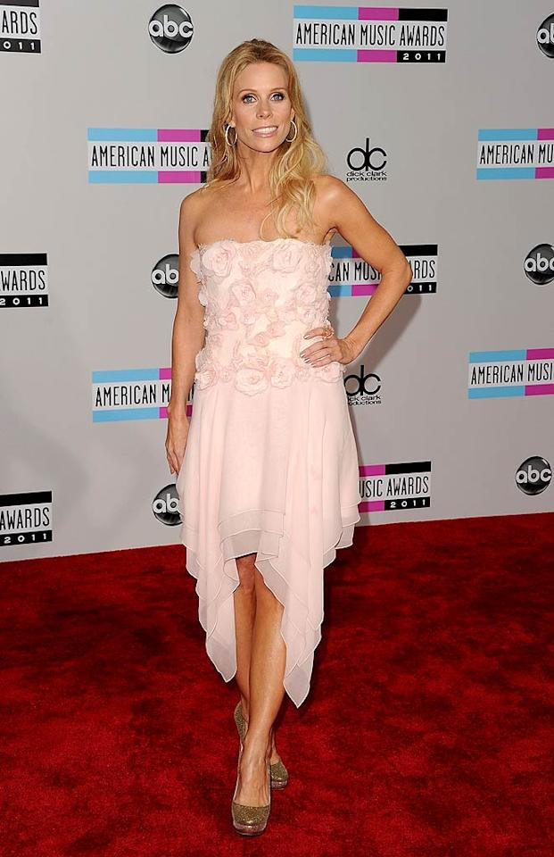 """""""Suburgatory's"""" Cheryl Hines arrives at the 2011 American Music Awards held at the Nokia Theatre L.A. LIVE. (11/20/2011)"""