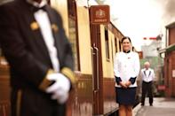 "<p>A ride on this splendid train isn't your average rail experience. You'll be welcomed by smartly dressed staff and can expect flowing champagne and service similar to that in a Michelin-starred restaurant. </p><p>You'll want to dress up for the occasion too as there's a dress code, which means no trainers or the loungewear. But after months in casual clothing, the excitement of dressing up makes a ride on the <a href=""https://www.countrylivingholidays.com/collection/belmond-british-pullman"" rel=""nofollow noopener"" target=""_blank"" data-ylk=""slk:Pullman"" class=""link rapid-noclick-resp"">Pullman</a> all the more desirable.</p>"
