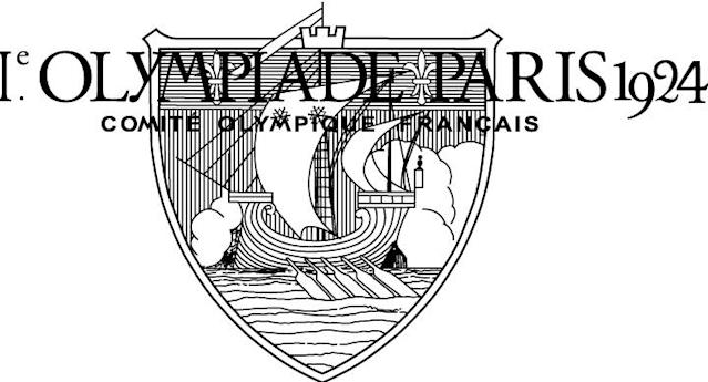 <p>The very first Olympic logo. Paris Summer Olympics in 1924. (IOC)</p>