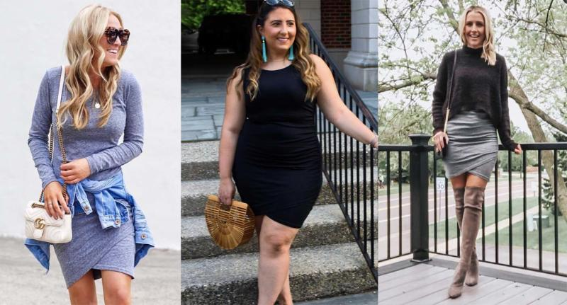 Leith's flattering bodycon wrap dress is on sale right now (Photos via Instagram)