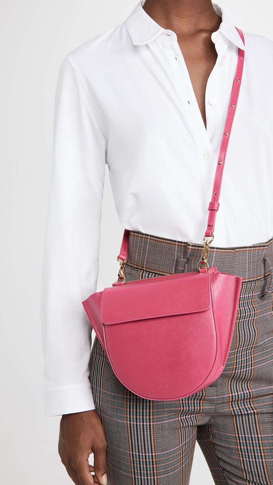 <p>Go for a bold pink shade with this <span>Wandler Hortensia Mini Bag</span> ($810).</p>