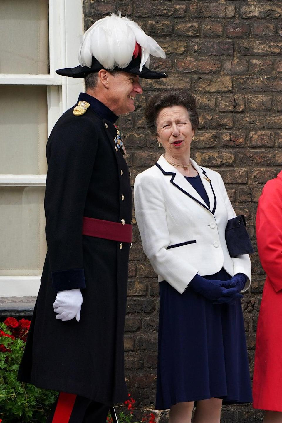 The Princess Royal speaks to the Governor of the Tower of London (PA) (PA Wire)