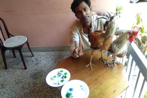 'Green-coloured' egg yolks in this Kerala man's farm leave experts puzzled