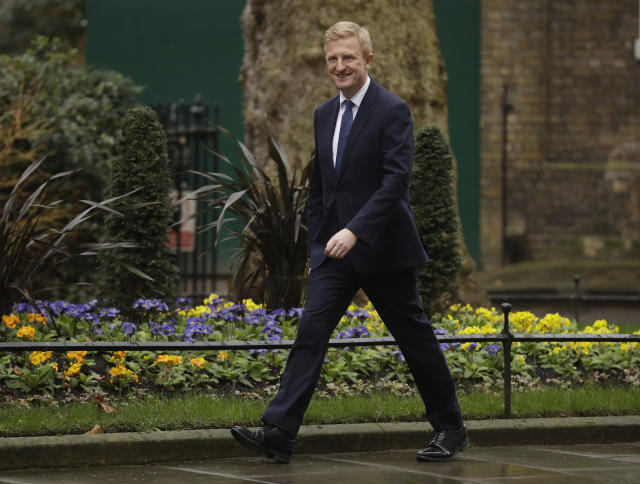 The petition was handed in to culture secretary Oliver Dowden (AP)