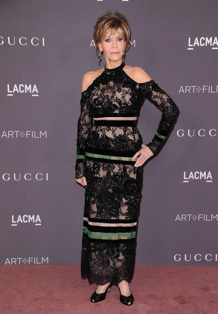 <p><strong>When: Nov. 4, 2017</strong><br>Rocking a black shoulderless embroidered gown from the Elie Saab 2017 pre-fall collection, she complemented the overall look with short choppy blonde locks and smoky eyes. <em>(Photo: Getty)</em> </p>