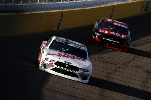 "<a class=""link rapid-noclick-resp"" href=""/nascar/sprint/drivers/3486/"" data-ylk=""slk:Cole Custer"">Cole Custer</a> and <a class=""link rapid-noclick-resp"" href=""/nascar/truck/drivers/3384"" data-ylk=""slk:Tyler Reddick"">Tyler Reddick</a> have been two of the best Xfinity Series performers in 2019. (Photo by Jonathan Ferrey/Getty Images)"
