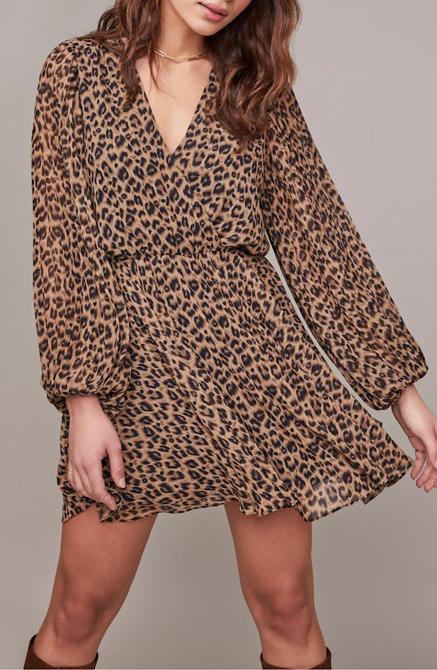 """<p>This <a href=""""https://www.popsugar.com/buy/ASTR-Label-Raphaela-Leopard-Print-Chiffon-Dress-475786?p_name=ASTR%20the%20Label%20Raphaela%20Leopard%20Print%20Chiffon%20Dress&retailer=shop.nordstrom.com&pid=475786&price=120&evar1=fab%3Aus&evar9=46424053&evar98=https%3A%2F%2Fwww.popsugar.com%2Ffashion%2Fphoto-gallery%2F46424053%2Fimage%2F46457177%2FASTR-Label-Raphaela-Leopard-Print-Chiffon-Dress&list1=shopping%2Cnordstrom%2Csummer%20fashion&prop13=mobile&pdata=1"""" rel=""""nofollow"""" data-shoppable-link=""""1"""" target=""""_blank"""" class=""""ga-track"""" data-ga-category=""""Related"""" data-ga-label=""""https://shop.nordstrom.com/s/astr-the-label-raphaela-leopard-print-long-sleeve-chiffon-dress/5324721?origin=category-personalizedsort&amp;breadcrumb=Home%2FWomen%2FNew%20Arrivals&amp;color=taupe%20leopard"""" data-ga-action=""""In-Line Links"""">ASTR the Label Raphaela Leopard Print Chiffon Dress </a> ($120) pairs well with black boots.</p>"""