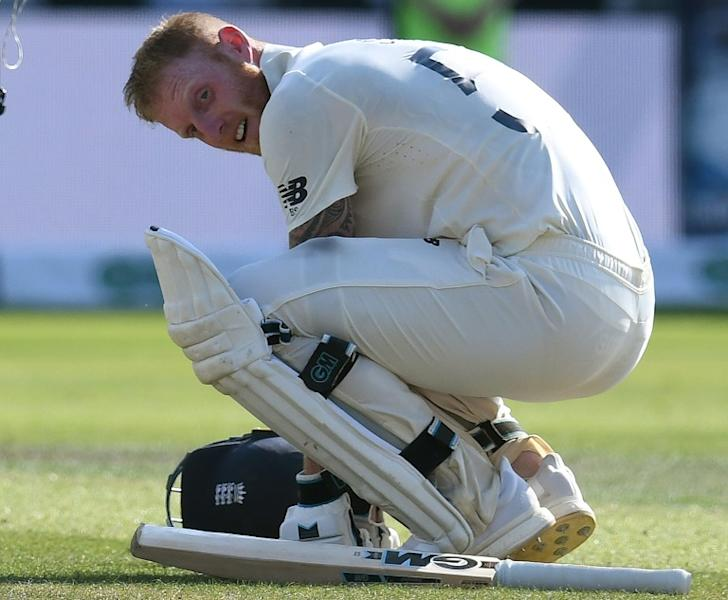 Ben Stokes reacts after England won the third Ashes Test (AFP Photo/Paul ELLIS)