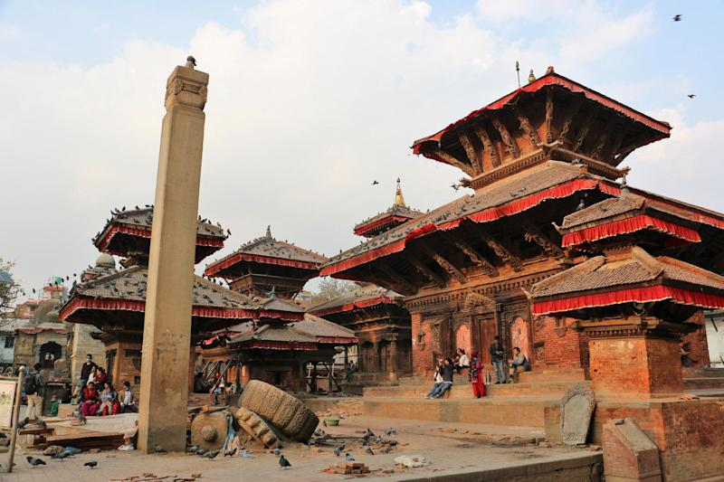 Many of the temples in Durbar Square were severely damaged: Heather Carswell