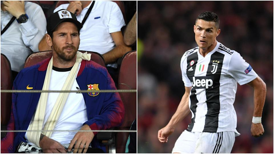 Lionel Messi's injury and Cristiano Ronaldo struggles with new club Juventus have given fans a glimpse of a future where they are no longer kings of the world's most popular sport. (Omnisport)
