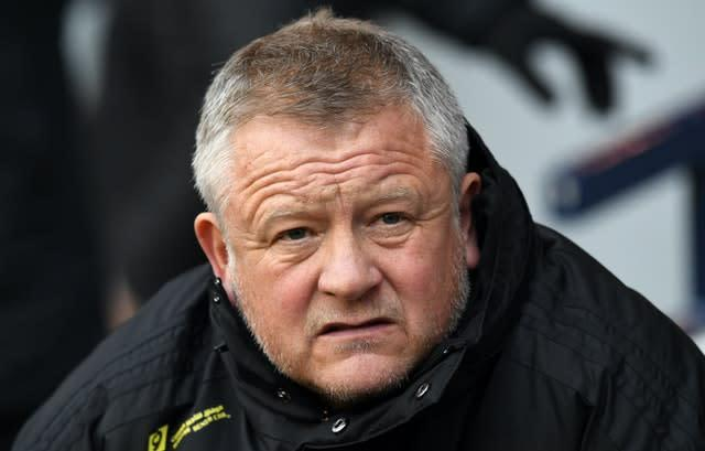 Sheffield United boss Chris Wilder believes football is nearing a return (Kirsty O'Connor/PA)