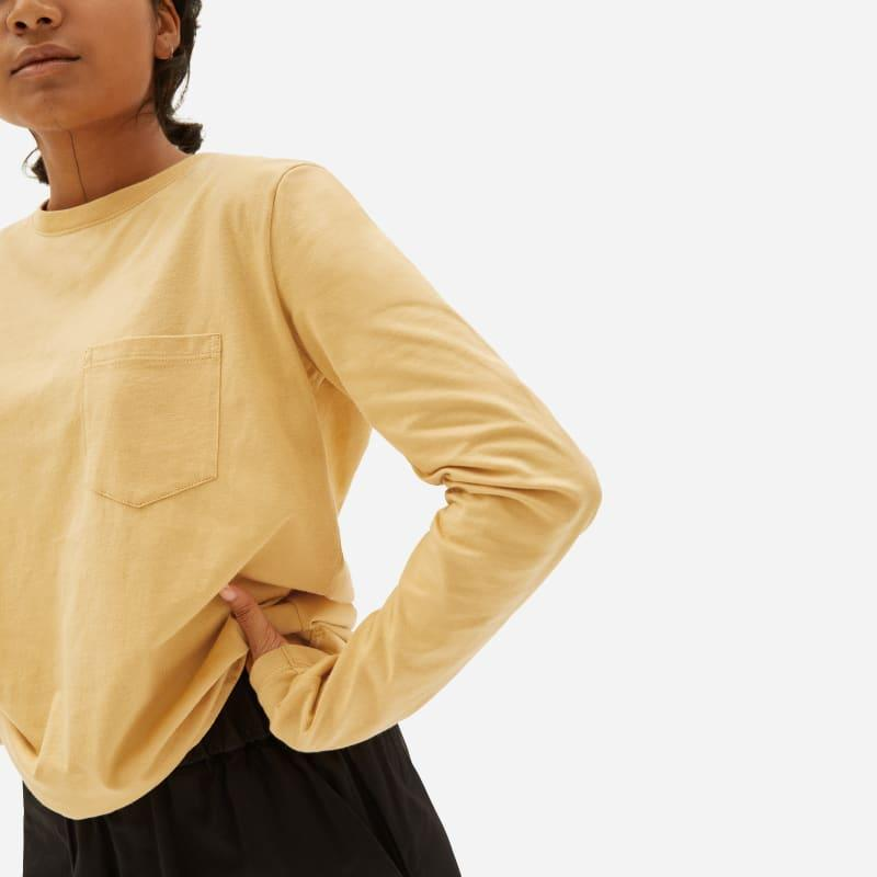 """<h2>Everlane</h2><br><strong>Dates: </strong>Limited time<br><strong>Sale:</strong> Up to 50% off<br><strong>Code:</strong> None<br><br><em>Shop <strong><a href=""""https://www.everlane.com/collections/womens-sale"""" rel=""""nofollow noopener"""" target=""""_blank"""" data-ylk=""""slk:Everlane"""" class=""""link rapid-noclick-resp"""">Everlane</a></strong></em><br><br><strong>Everlane</strong> The Organic Cotton Long-Sleeve Box-Cut Pocket Tee, $, available at <a href=""""https://go.skimresources.com/?id=30283X879131&url=https%3A%2F%2Fwww.everlane.com%2Fproducts%2Fwomens-organic-cotton-ls-box-cut-pocket-gold%3Fcollection%3Dwomens-sale"""" rel=""""nofollow noopener"""" target=""""_blank"""" data-ylk=""""slk:Everlane"""" class=""""link rapid-noclick-resp"""">Everlane</a>"""