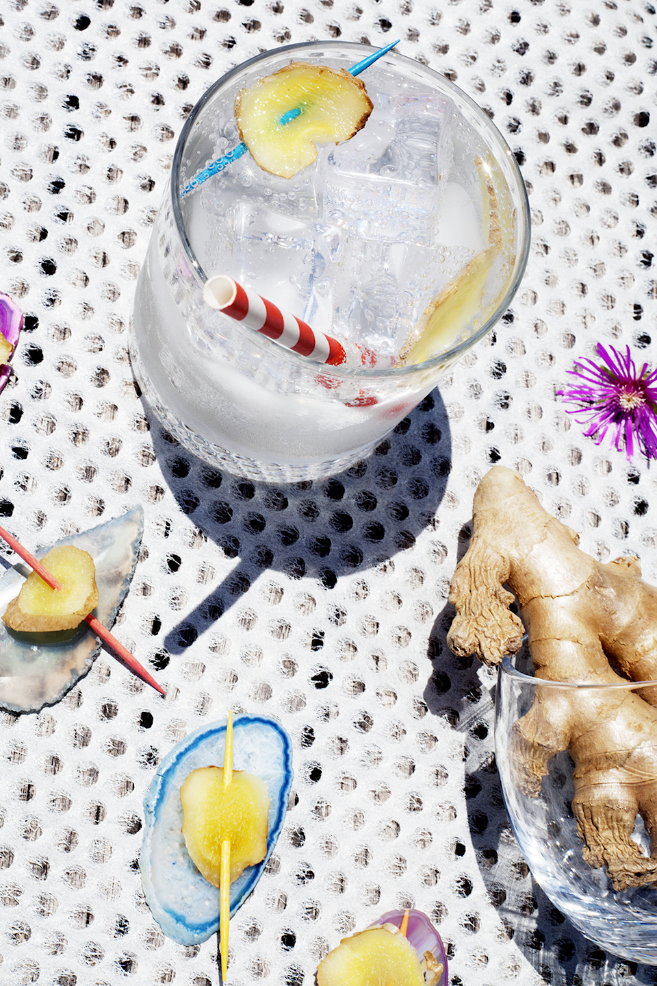 """<strong>Ginger</strong><br><br>Think fresh ginger tea, but with gin. This is more of a garnish than a cocktail, but the ginger adds a noticeable sweet spice.<br><br>Choose a spiced gin to enhance this flavour, such as the oriental spiced <a href=""""http://opihr.com/"""" rel=""""nofollow noopener"""" target=""""_blank"""" data-ylk=""""slk:Opihr"""" class=""""link rapid-noclick-resp"""">Opihr</a> which has a distinct flavour. The gin is made from ingredients spread across the globe, including Indonesian cubeb berriesm, Indian black pepper and Moroccan coriander.<br><br><strong>Ingredients (Makes 1)</strong><br>50ml gin<br>1cm slice of fresh ginger<br>Tonic water<br>Ice<br><br><strong>Method</strong><br>Fill a glass with ice and add your gin. Top with tonic, and slithers of fresh ginger.<span class=""""copyright"""">Photographed by <strong>Roxana Azar</strong></span>"""