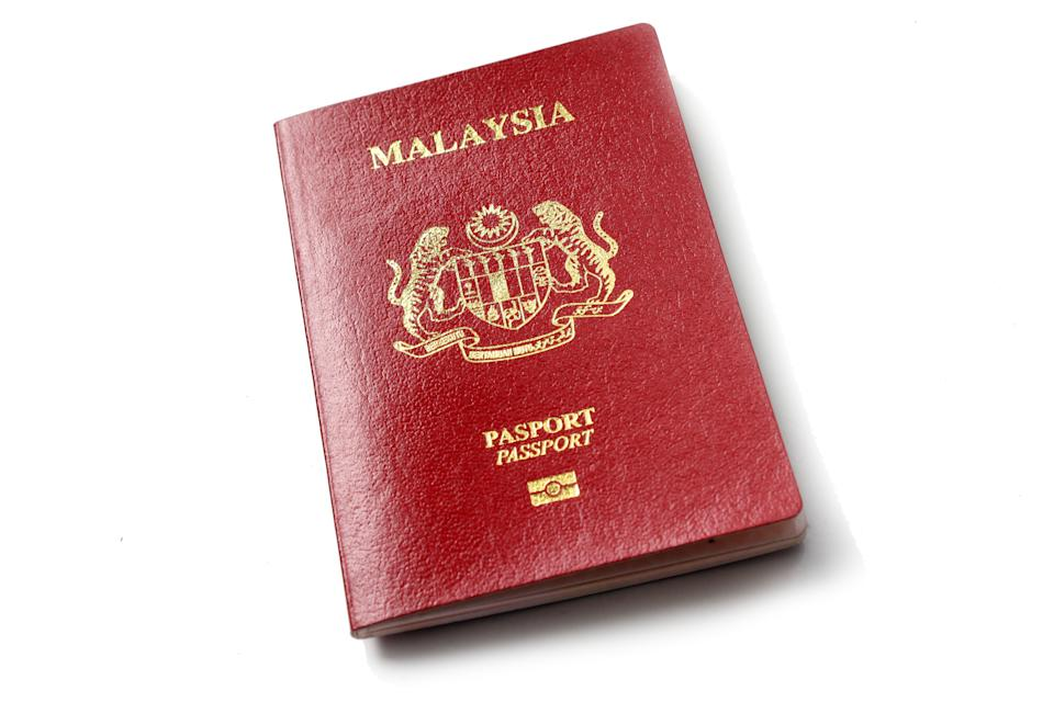 Malaysian passport in red colour