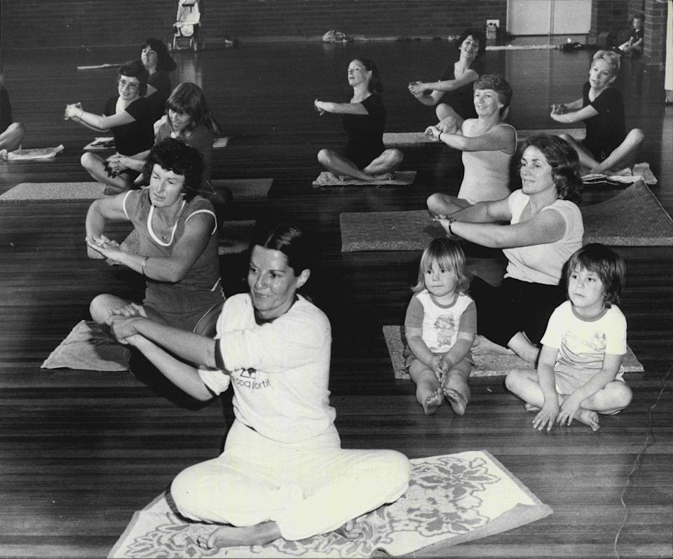 <p>The workout trend that swept the '80s started out as an extension of the yoga exercises that grew in popularity in the '70s.</p>