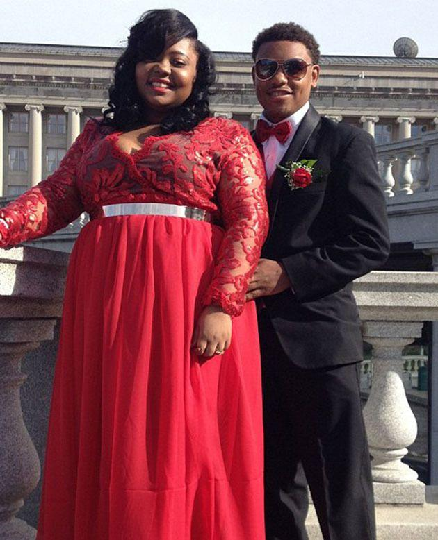 US student Alexus Miller-Wigfall was suspended for her 'revealing' prom dress in 2015. Photo: Alicia Sneed