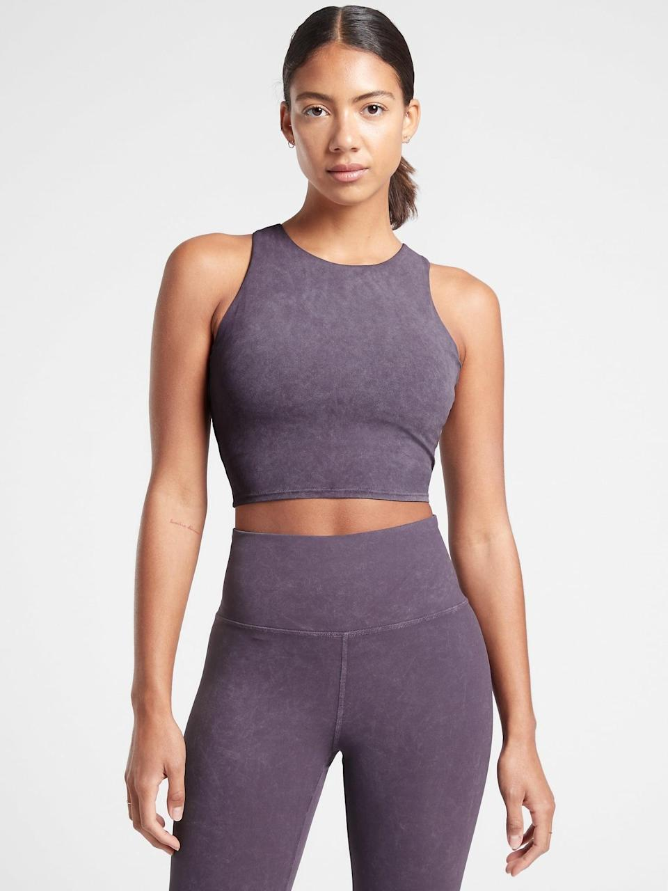 <p>We love the color of this comfy <span>Athleta Conscious Garment Wash Crop D-DD</span> ($50, originally $64), and it makes for a great gift.</p>