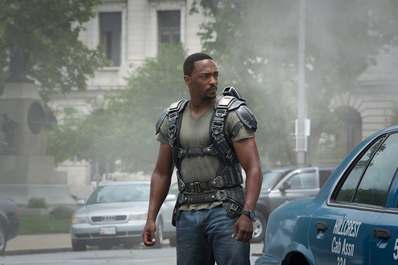 Anthony Mackie in 'Captain America: The Winter Soldier'