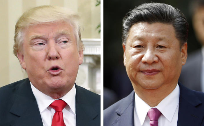 President-elect Donald Trump has taken a hard line on China, but an upcoming political transition means Chinese President Xi Jinping could be easily provoked. (Credit: AP/Pablo Martinez Monsivais, Luis Hidalgo)