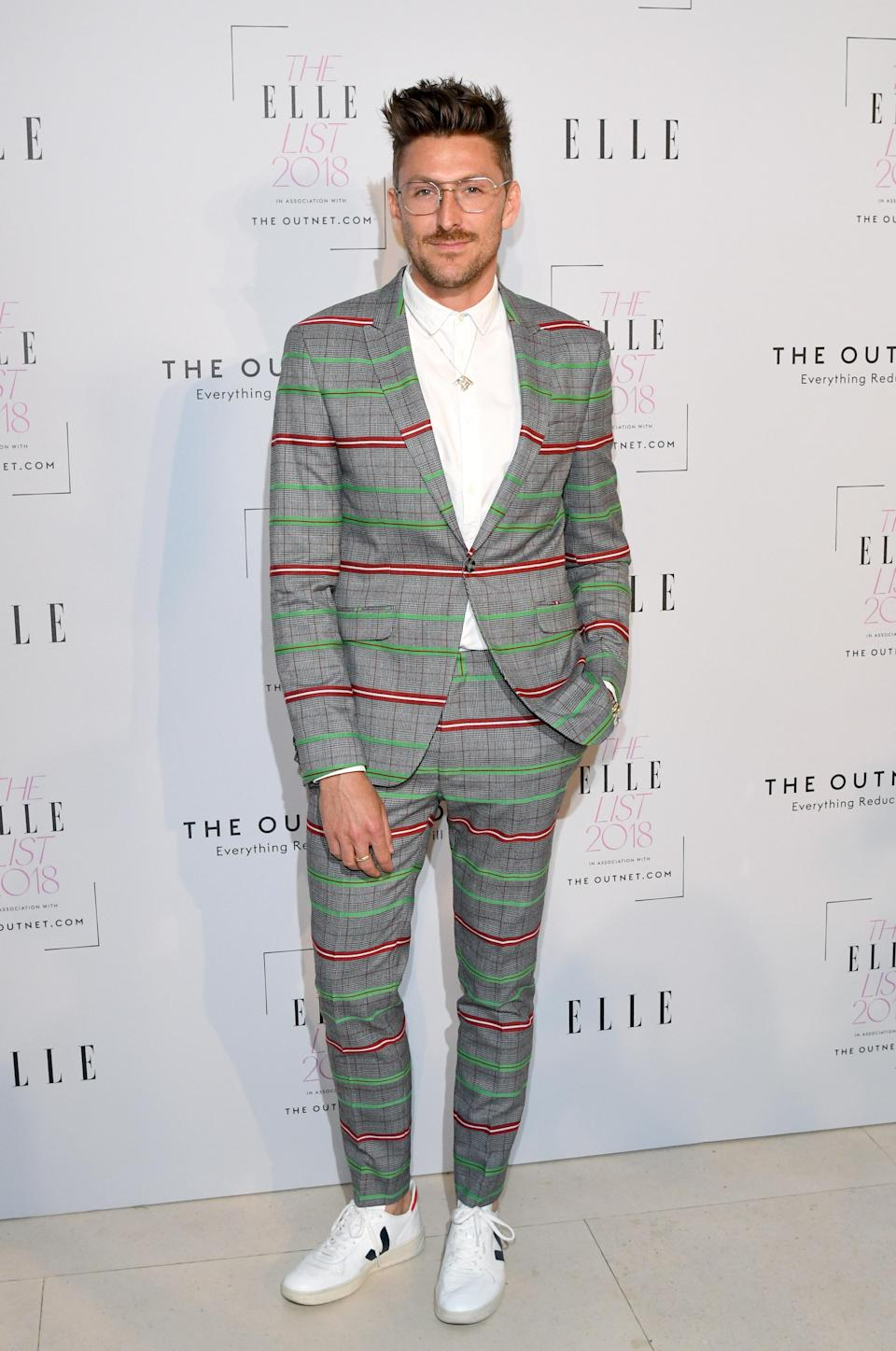 <p>We knew that we could rely Henry Holland to bring his fashion A-game. Hands up, who else is in lurv with his co-ord? Oh, and extra style points for his Veja trainers too of course. <em>[Photo: Getty]</em> </p>